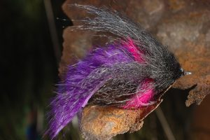 Fox Fur Tarpon Fly, black and purple