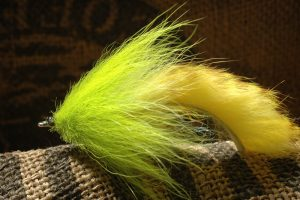 Fox Fur Tarpon Fly, chartreuse